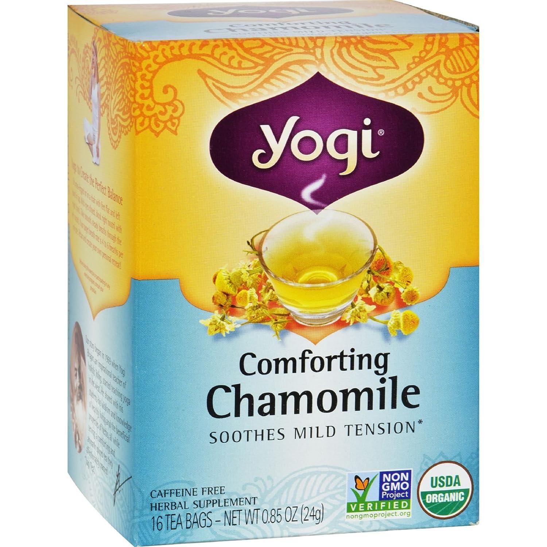 YOGI TEA,OG2,COMFRTNG CHAMONI, 16 BAG