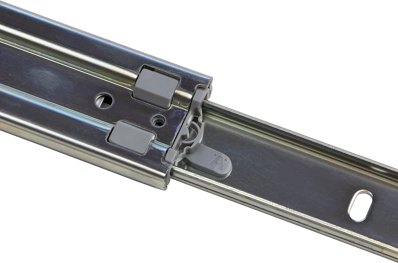 M/öbel-Schienen Tragkraft 30 kg 5 Paar Gedotec Vollauszug 250 mm Teleskopschiene Schubladen-Schienen KTS Kugelf/ührung Stahl verzinkt Ausz/üge f/ür Holz-Schubk/ästen Teleskopauszug kugelgelagert