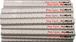 product image for RevMark Carpenter Pencil 24 Pack White with Red Lead and Printed Ruler, Made in The USA. Quality Cedar Wood for Carpenters, Construction Workers, Woodworkers, Framers. Medium Lead Bulk Lumber Pencils