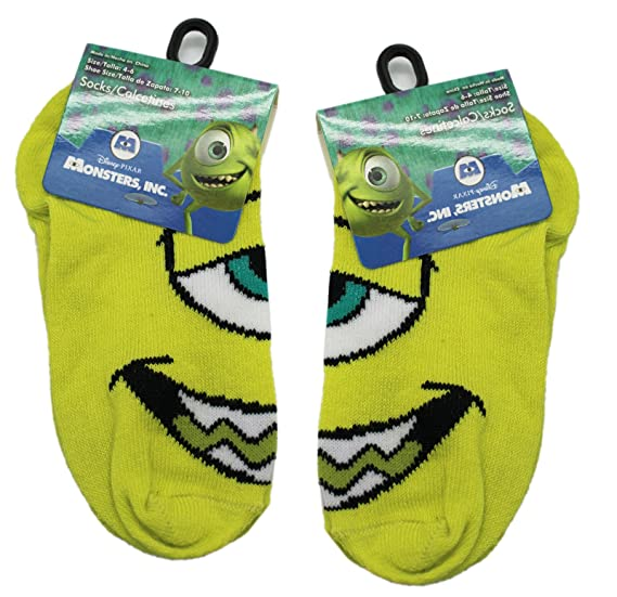 Disney Pixars Monsters Inc. Mike Wazowski Green Socks (2 Pairs, ...