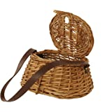 Wald Imports Brown Willow  Creel Basket