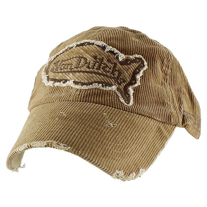 Authentic Von Dutch Vintage Corduroy Baseball Cap Cotton Adjustable Hat -  Camel e7e3195a7b3