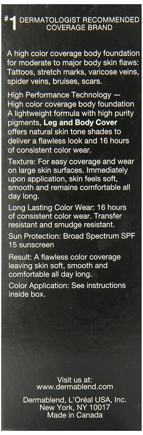 Amazon.com : Dermablend Leg and Body Concealers Cover Make-Up SPF ...