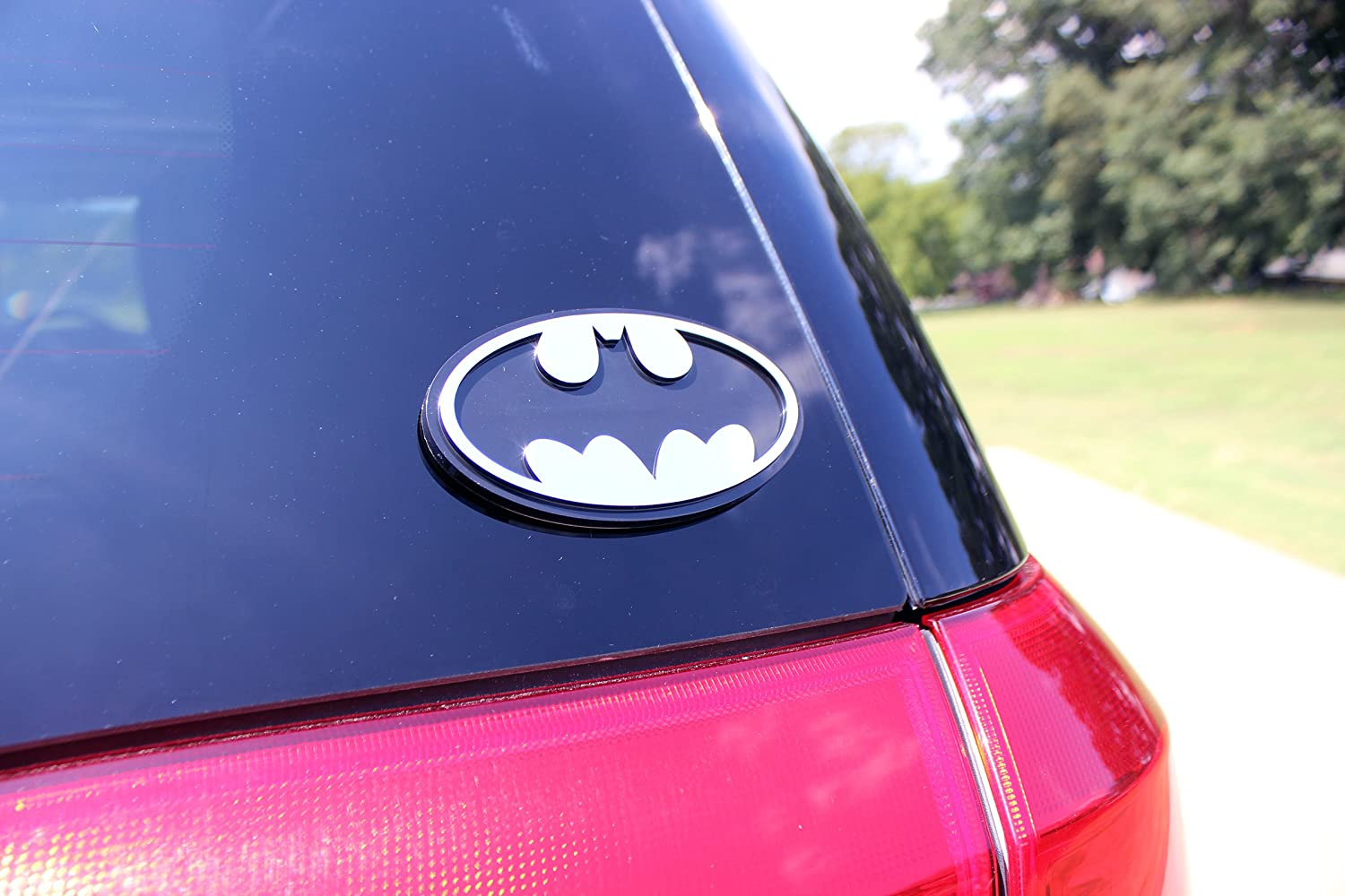 Amazon.com: Chroma 41504 Batman Logo Injection Molded Chrome Colored Emblem Decal: Automotive