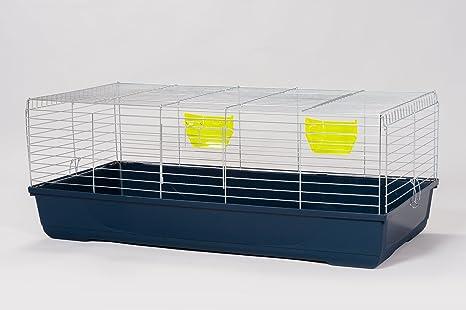 XXL Diamante jaula galvanizado 120 cm ancho para conejos cobaya ...
