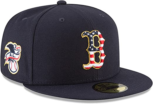 best sell really cheap reasonably priced Amazon.com: New Era Boston Red Sox 2018 July 4th Stars and Stripes ...