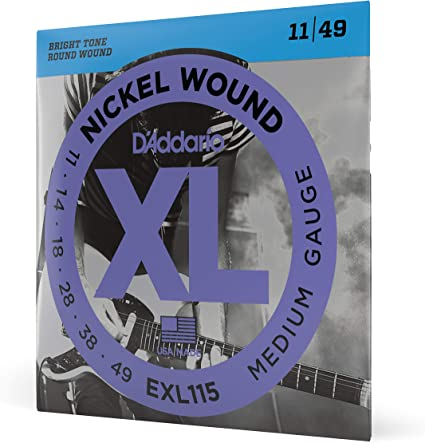 D/'Addario EXL115W Electric Guitar Strings 11-49 Wound 3rd String Medium
