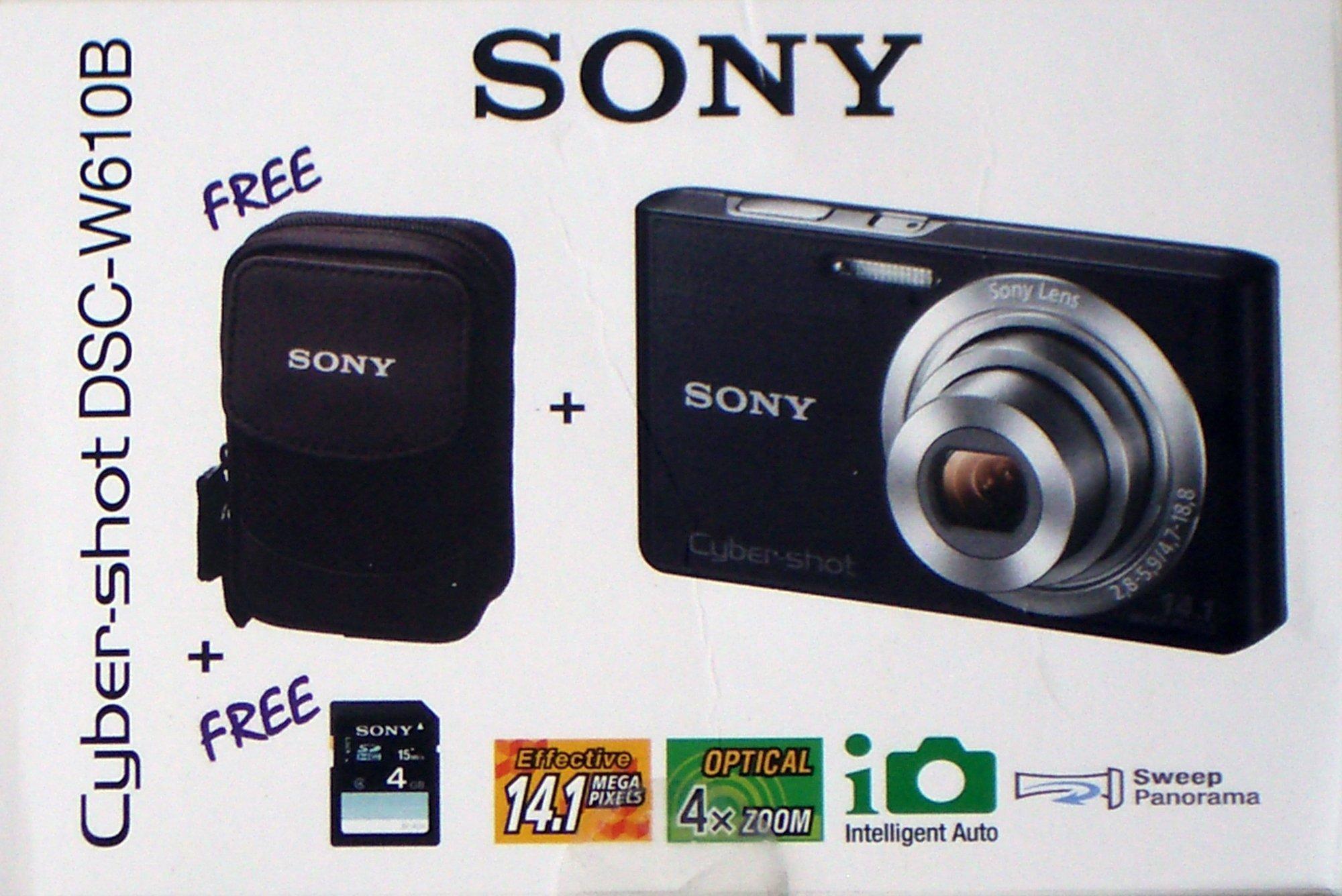 Sony Cyber Shot Dsc-W510B Camera Kit Black Includes Camera 4Gb Sd Card And Case