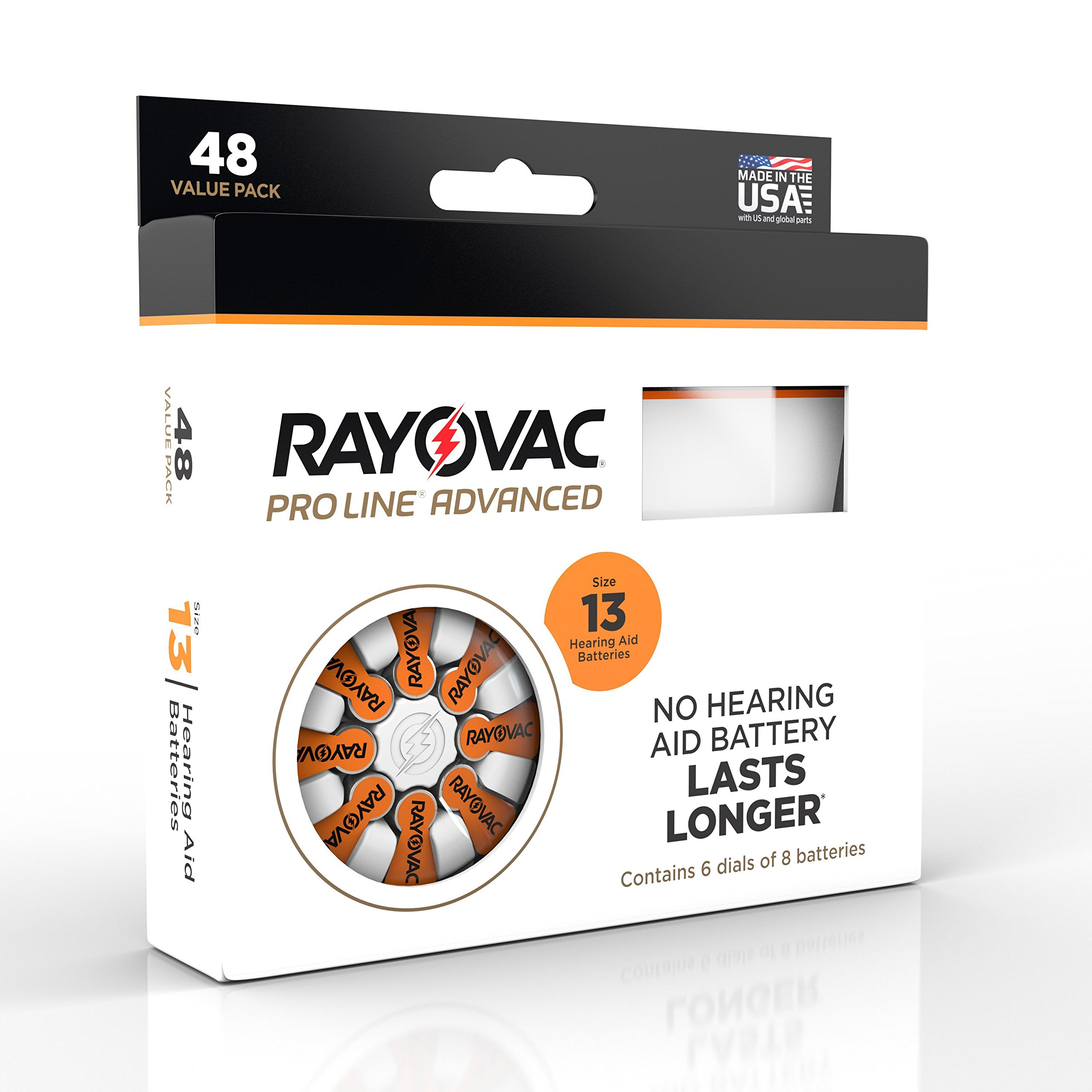 Rayovac Proline Advance Hearing Aid Batteries, Size 13A (48 count) by Rayovac Proline