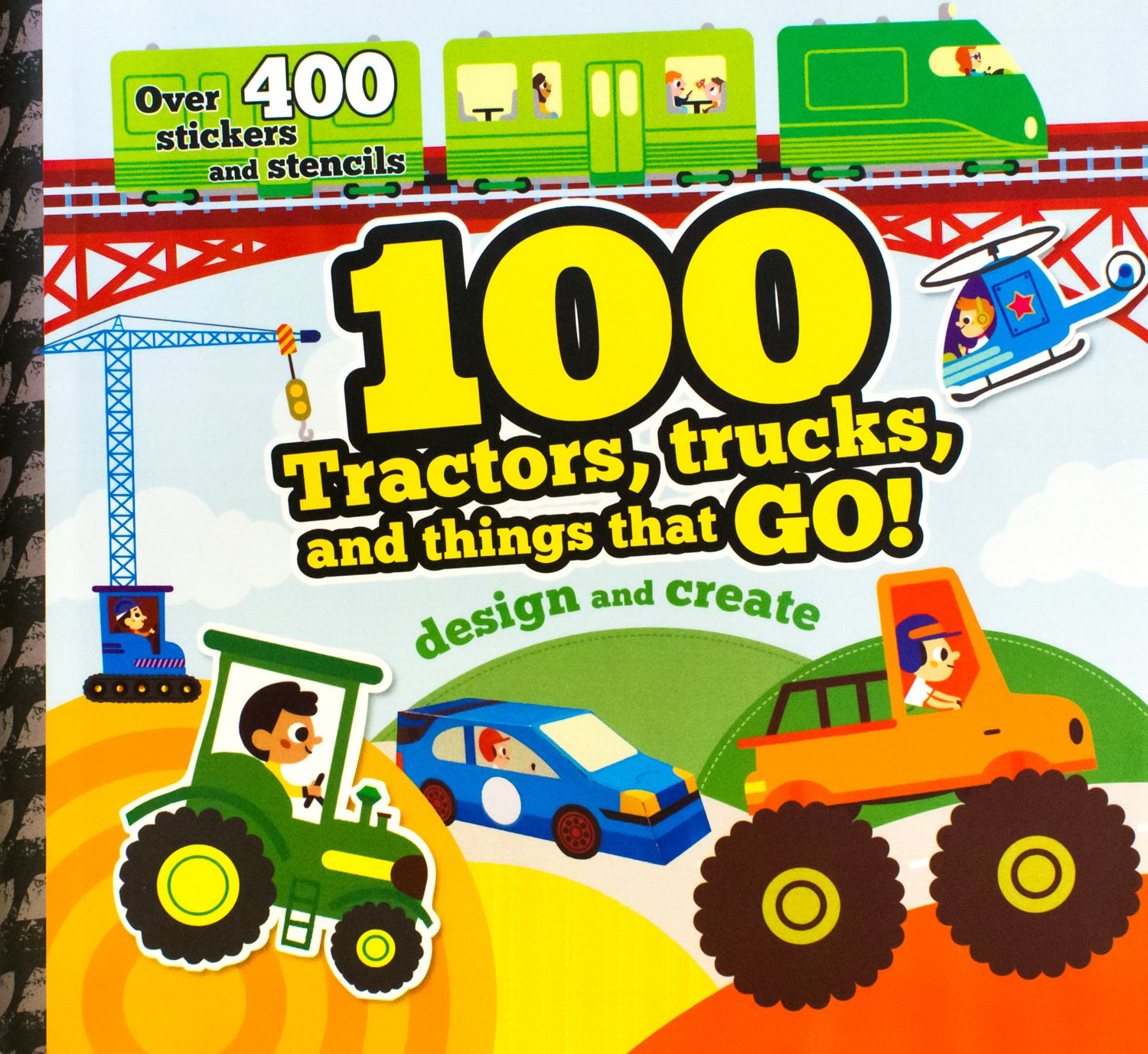 Read Online 100 Tractors, Trucks And Things That Go (Spiral Creativity) pdf epub