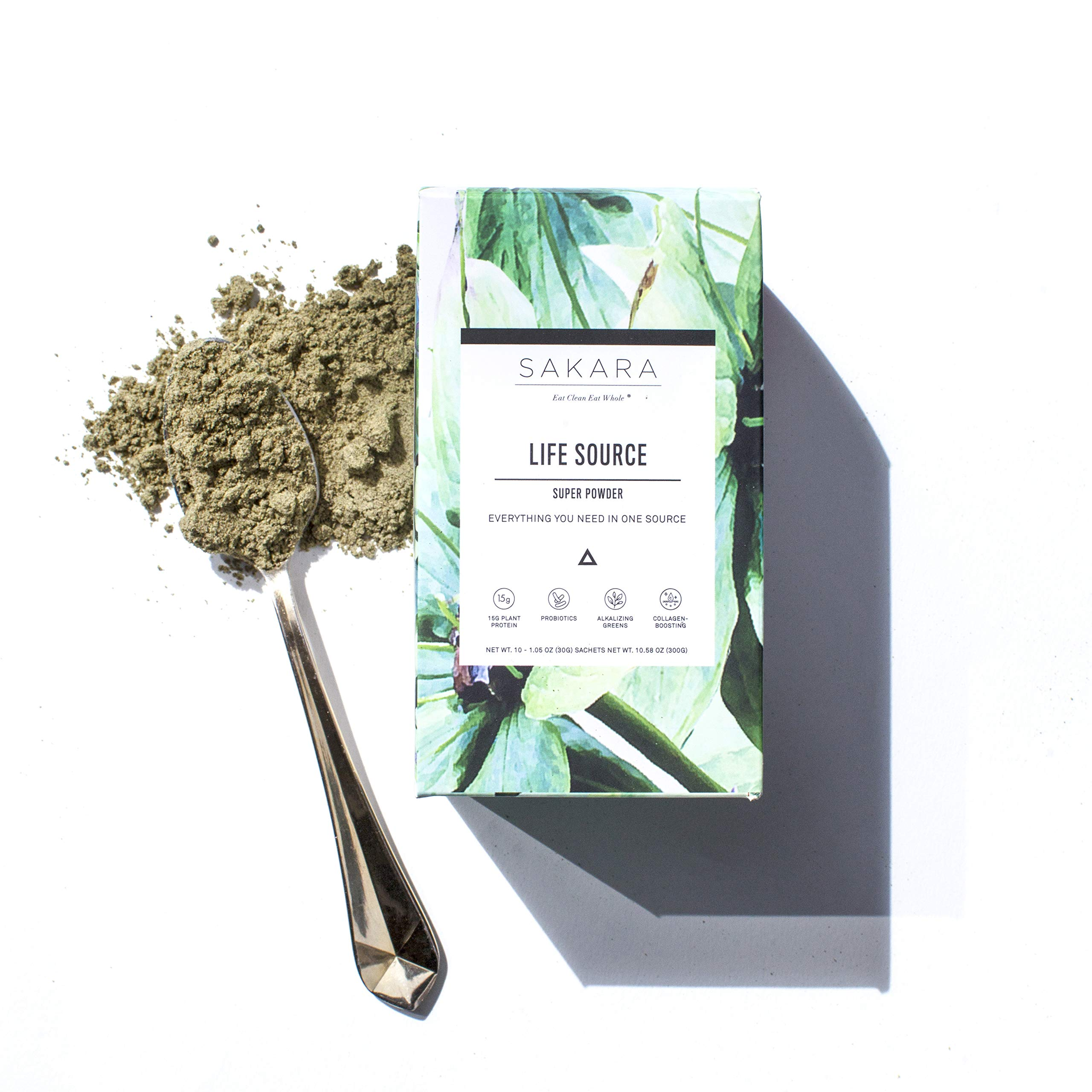 Life Source Super Powder w/ 12g Plant Protein, Greens, Digestive Enzymes 10pk