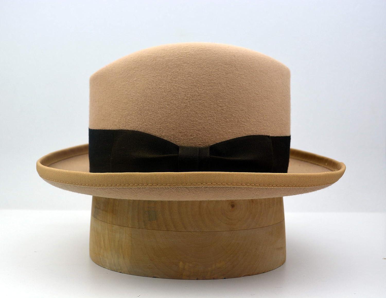c229945c546 Amazon.com: The Ambassador - Men's Weight Rabbit Fur Felt Homburg Fedora Hat  - Medium Brim - Men Women: Handmade