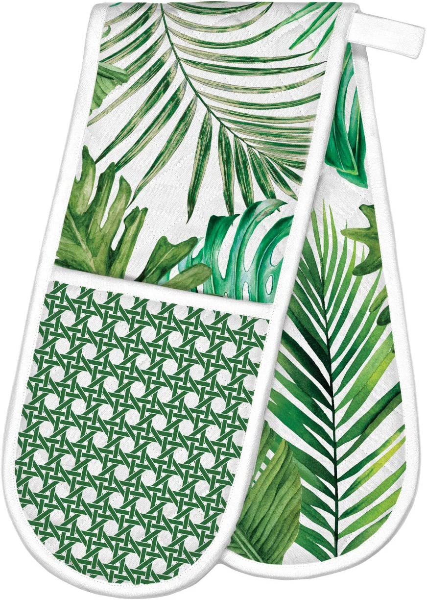 Michel Design Works Double Oven Glove, Palm Breeze