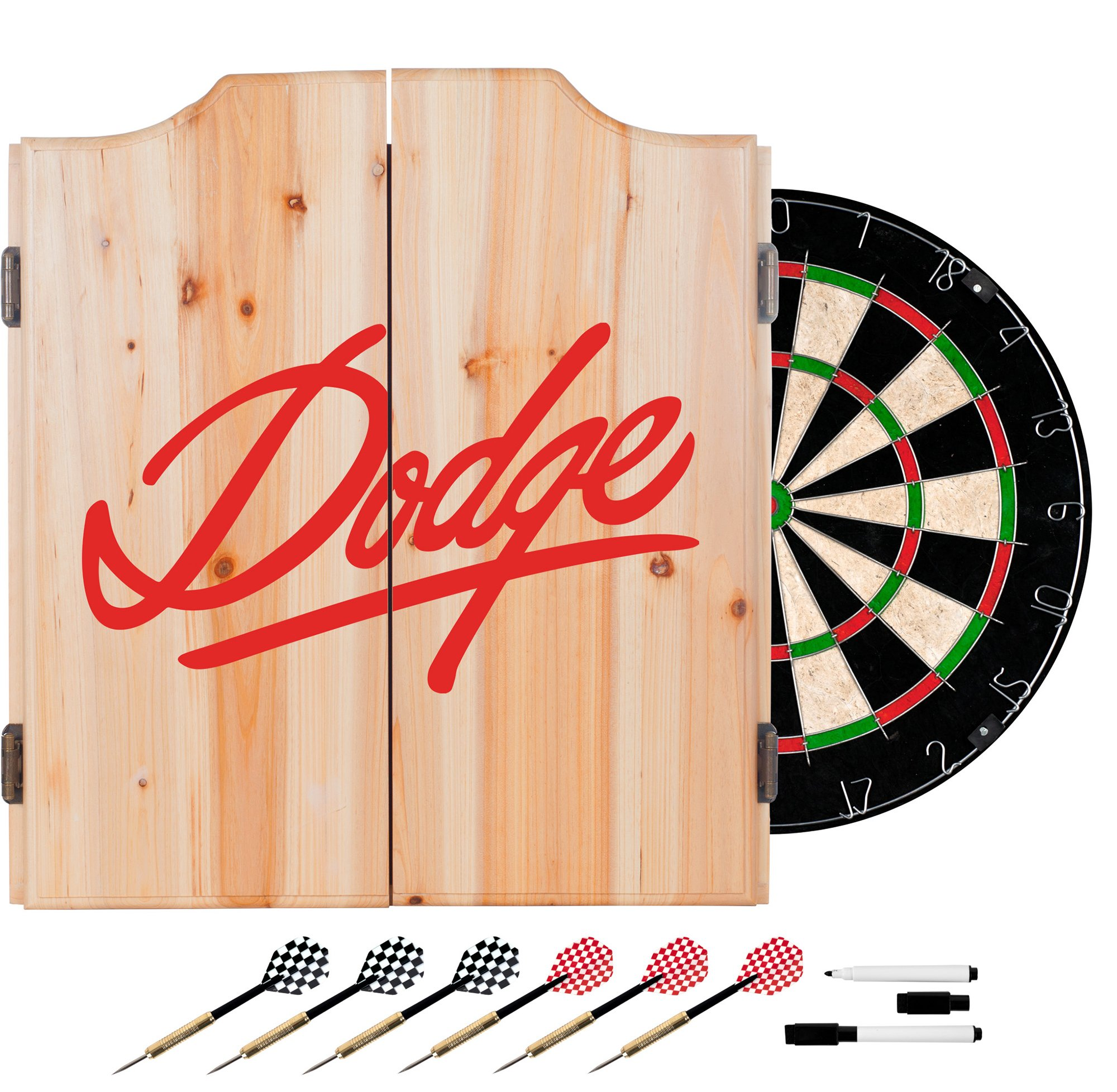 Trademark Gameroom Signature Dodge Dart Cabinet Set with Darts & Board