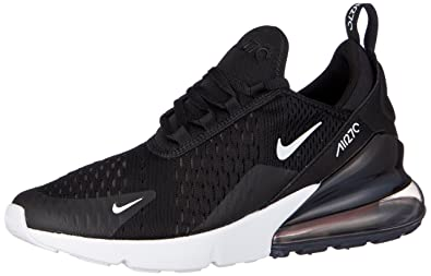 NIKE Kids Air Max 270 GS, BlackWhite, Youth Size 4