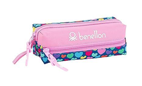Estuche de Benetton Cuori Oficial Escolar: Amazon.es: Equipaje