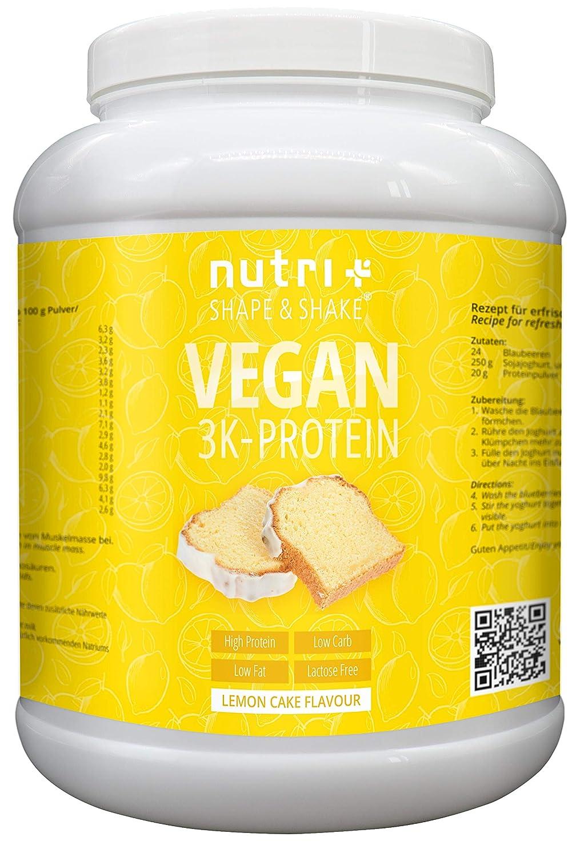NUTRI-PLUS SHAPE & SHAKE Zitronenkuchen 1kg Protein Pulver | 83,8% Eiweiß