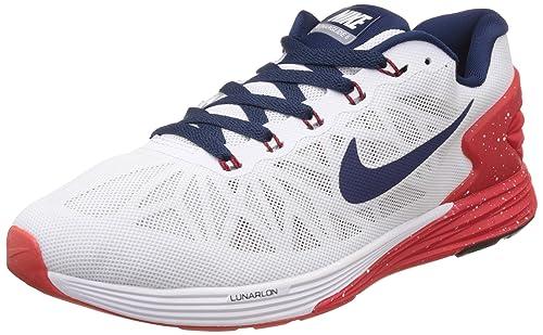 bca6eba257710 Nike Men s Lunarglide 6 White Running Shoes -8.5 UK India (43 EU ...