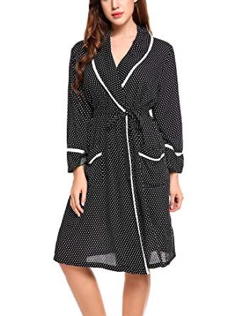 Hotouch Women s Women s Beach Summer Shift Dress Short Cotton Robe Cover up  Black M Brand Name a31eb9946