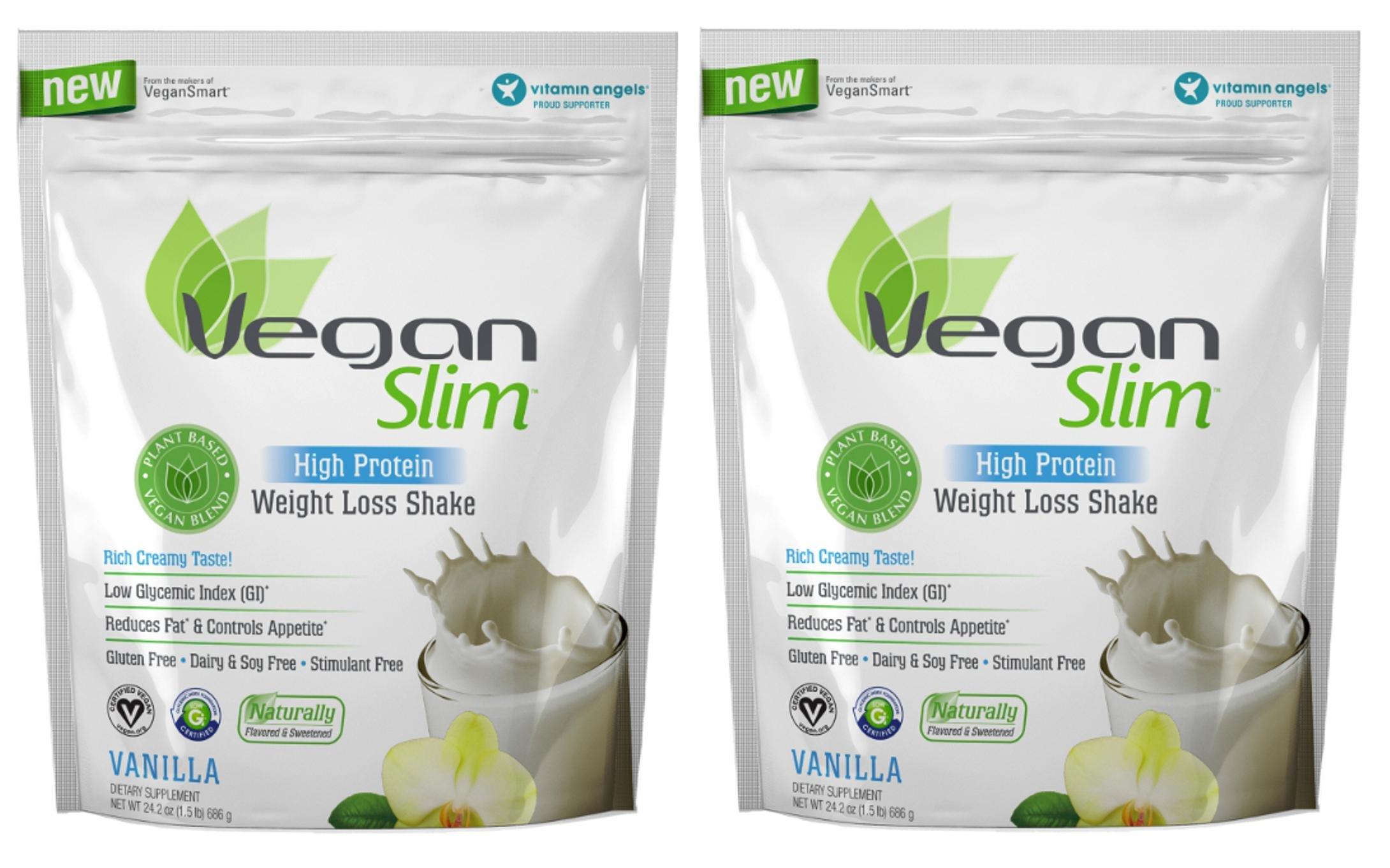 Naturade Veganslim High Protein Weight Loss Shake Powder Vanilla 24.2 oz (1.5 lb) 686 g (2 Pack)