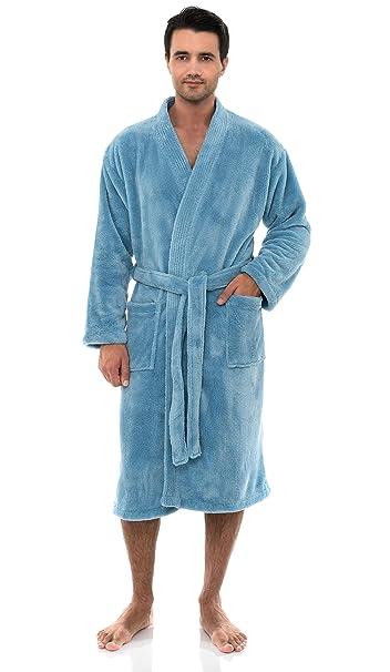 top brands timeless design 2019 best sell TowelSelections Men's Plush Spa Robe Fleece Kimono Bathrobe