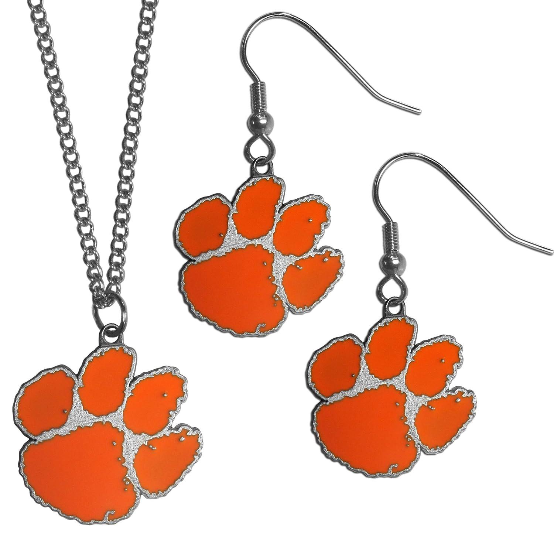 Siskiyou NCAA Clemson Tigers Dangle Earrings /& Chain Necklace Set Orange