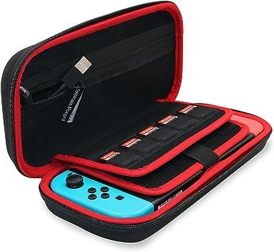 Mountain Forged Funda para Nintendo Switch, Dura Transporte Rígida Viaje Case Más Espacio de Almacenamiento Bolsa para 19 Juegos y Accesorios Negro: Amazon.es: Electrónica