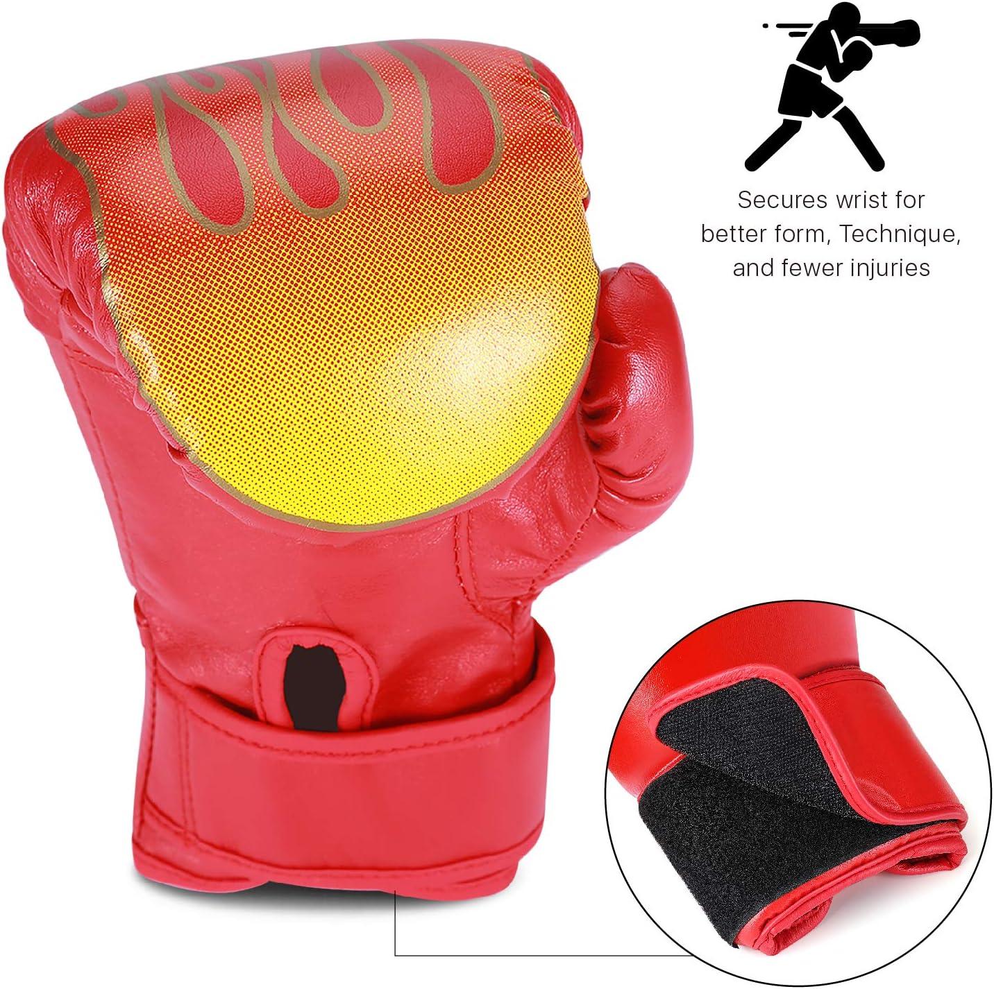 MagiDeal Gants de Boxe pour Enfants MMA Mury Thai Kickboxing Punching Sparring Sac Frappe Entra/înement