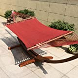 TOUCAN OUTDOOR 55 Inch Caribbean Rope Hammock, Red