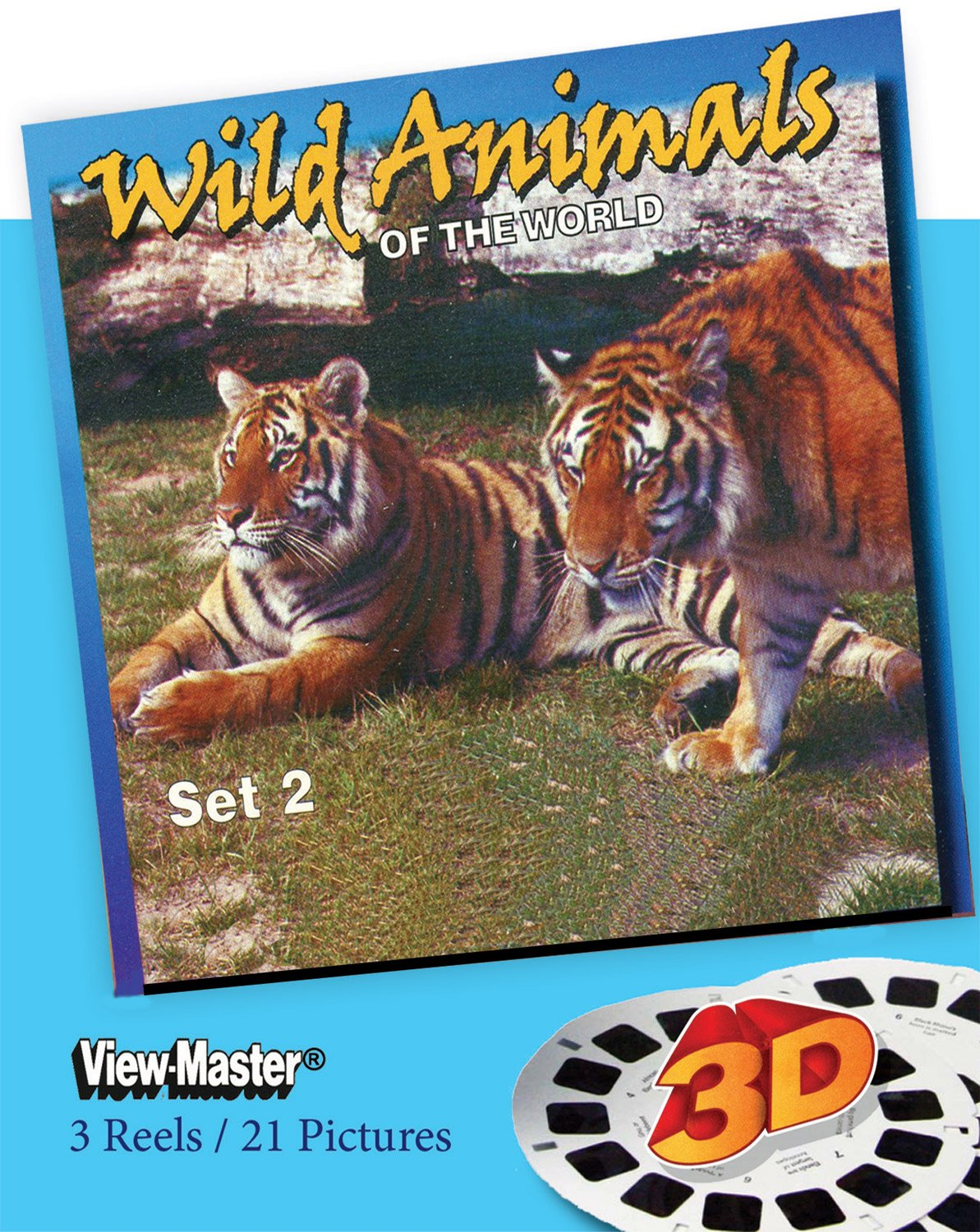 ViewMaster- Wild Animals of the World #2 - 3 Reels on Card - NEW by 3Dstereo ViewMaster (Image #1)