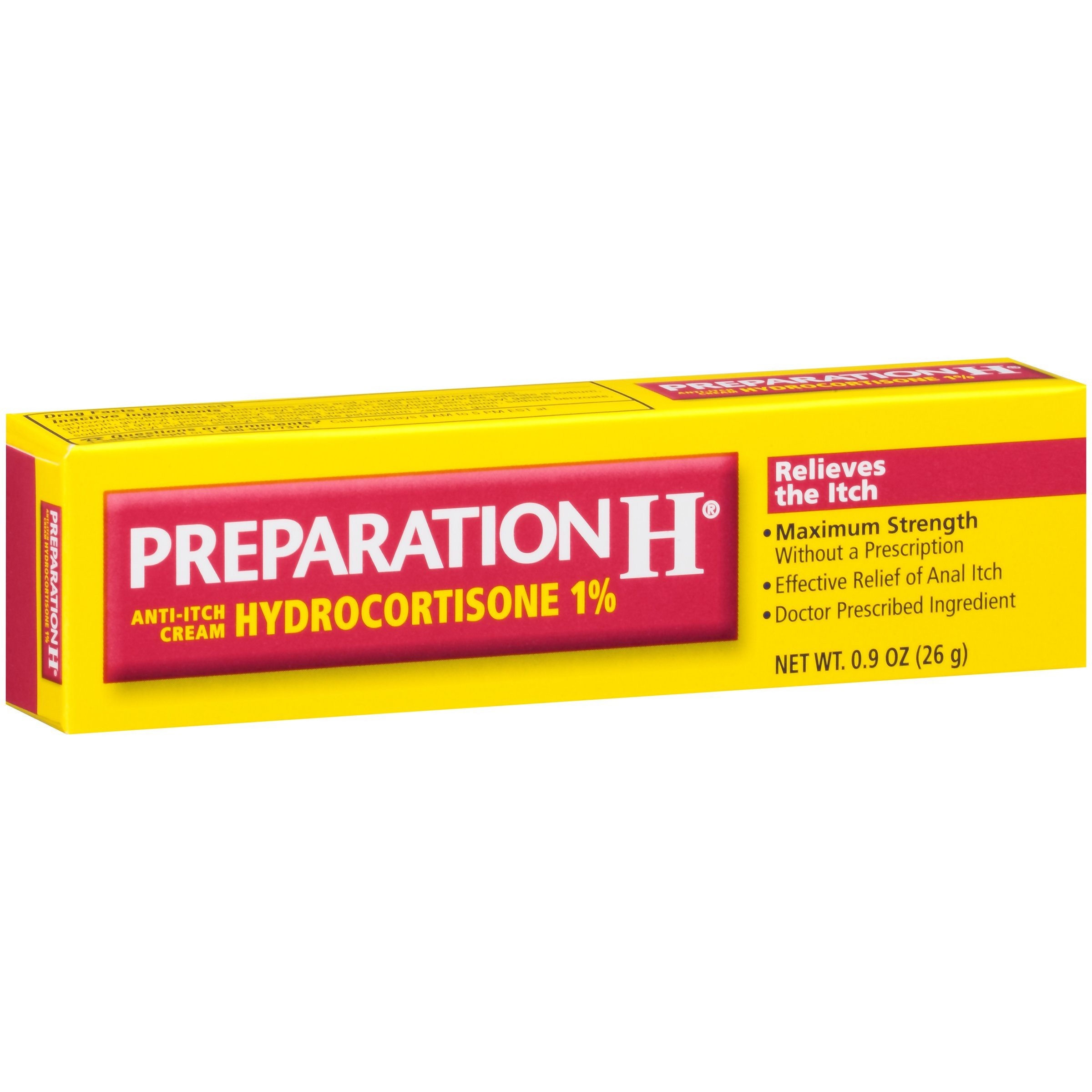 Preparation H Anti-Itch Cream With Hydrocortisone 1% (0.9 Ounce Tube, Pack of 3) by Preparation H