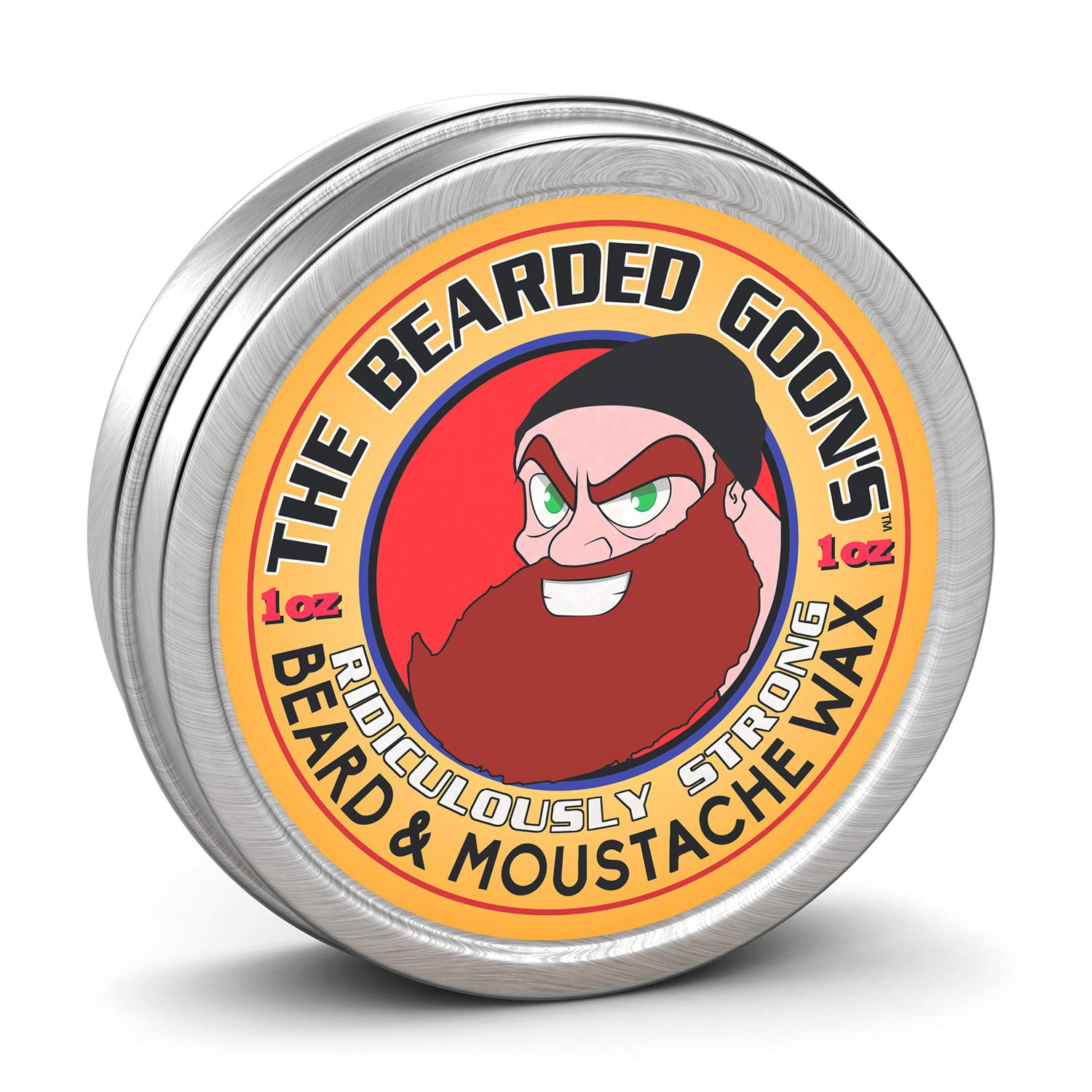 The Bearded Goon's RIDICULOUSLY STRONG Beard & Handlebar Moustache Wax - 1oz (30ml) Strongest Hold for Mustache, Beards, and Facial Hair 01
