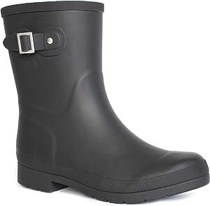 Chooka Women's Waterproof Solid Mid-Height Rain Boot