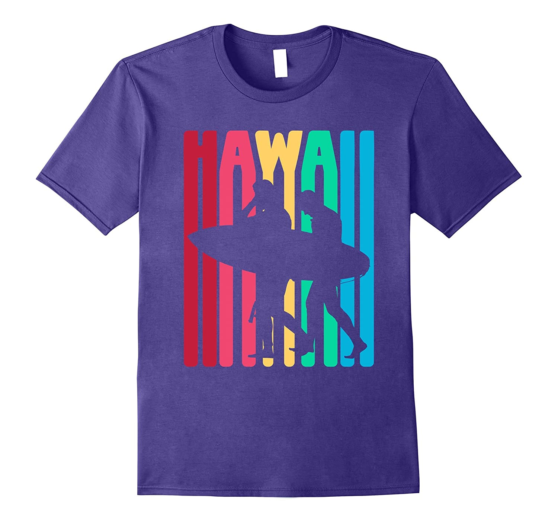 Vintage Hawaiian Islands Tee Hawaii Aloha Surfing T-Shirt-T-Shirt