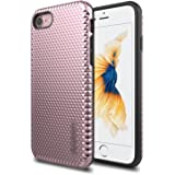 iPhone 7 Case, LUVVITT [Brilliant Armor] Shock Absorbing Case Best Heavy Duty Dual Layer Tough Cover for Apple iPhone 7 - Rose Gold