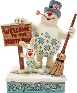 Enesco Jim Shore Frosty The Snowman with Welcome Sign Figurine 6007342