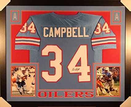 Image Unavailable. Image not available for. Color  Earl Campbell Signed  Houston Oilers 35x43 Custom Framed Jersey (JSA COA) 5750aa5af