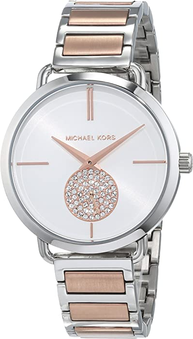 549205e226a1 Michael Kors Women s Portia 37mm Steel Bracelet   Case Quartz Silver-Tone  Dial Analog Watch