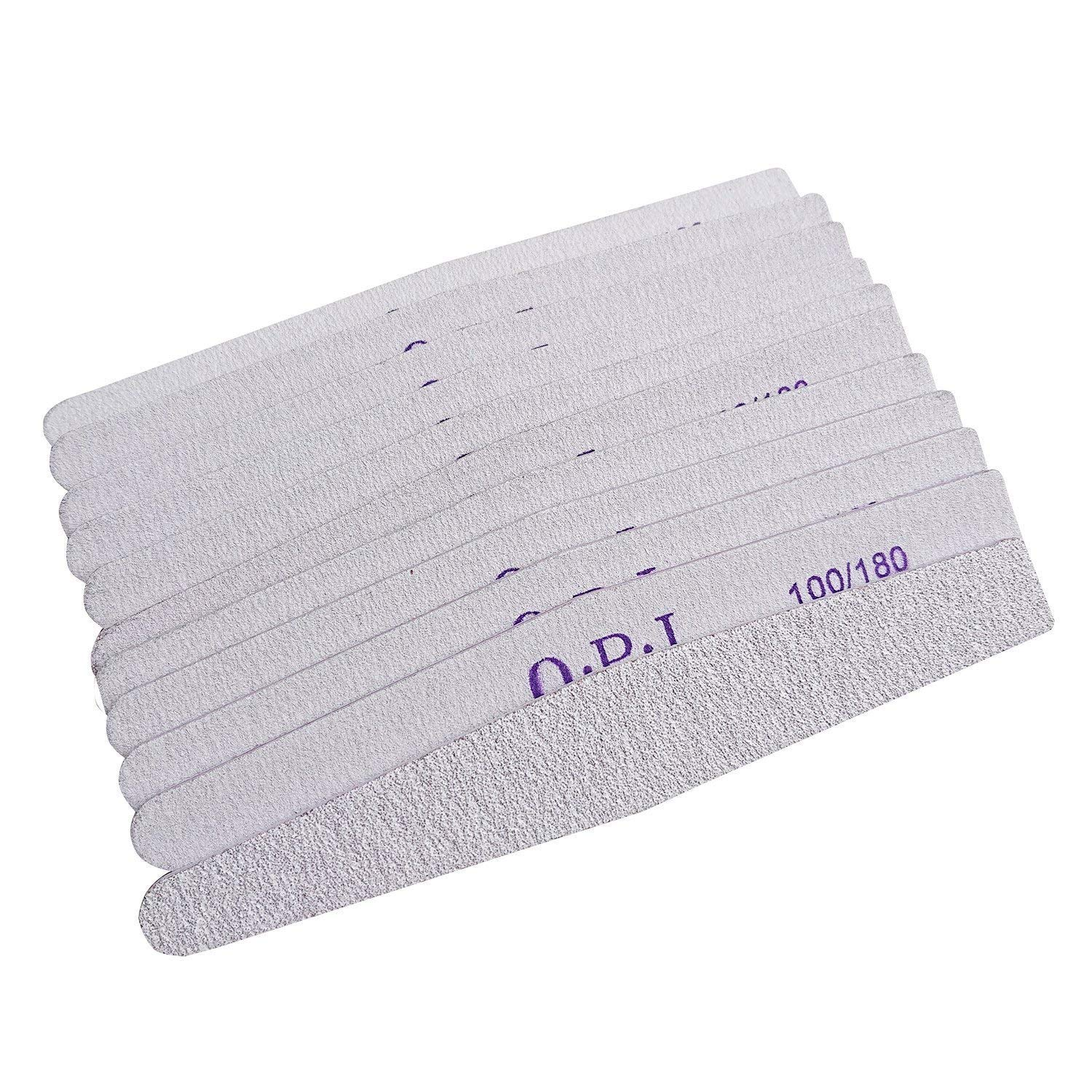BallHull 25pcs Double Sided Nail Files Emery Board Grit gray Cosmetic Manicure Pedicure.