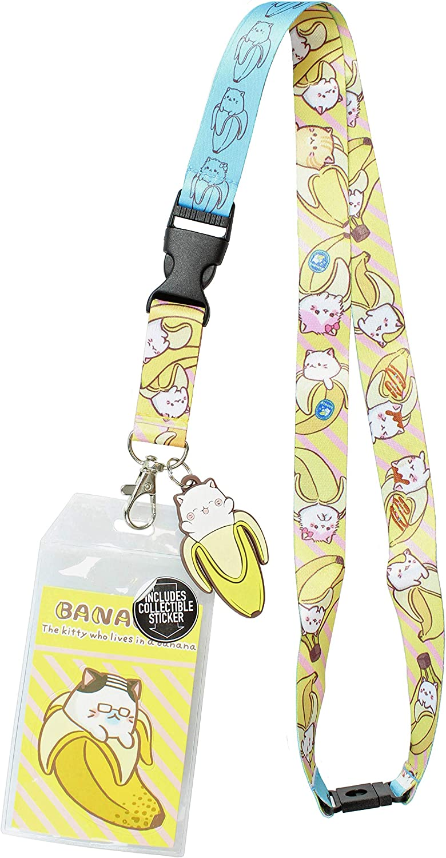 Bananya ID Lanyard Badge Holder with 2