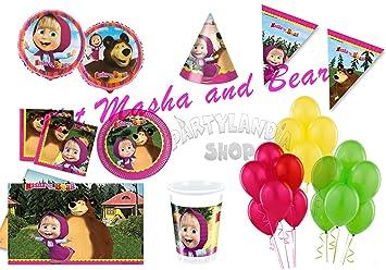 Partylandia Kit de Fiesta de cumpleaños Masha y el Oso para ...
