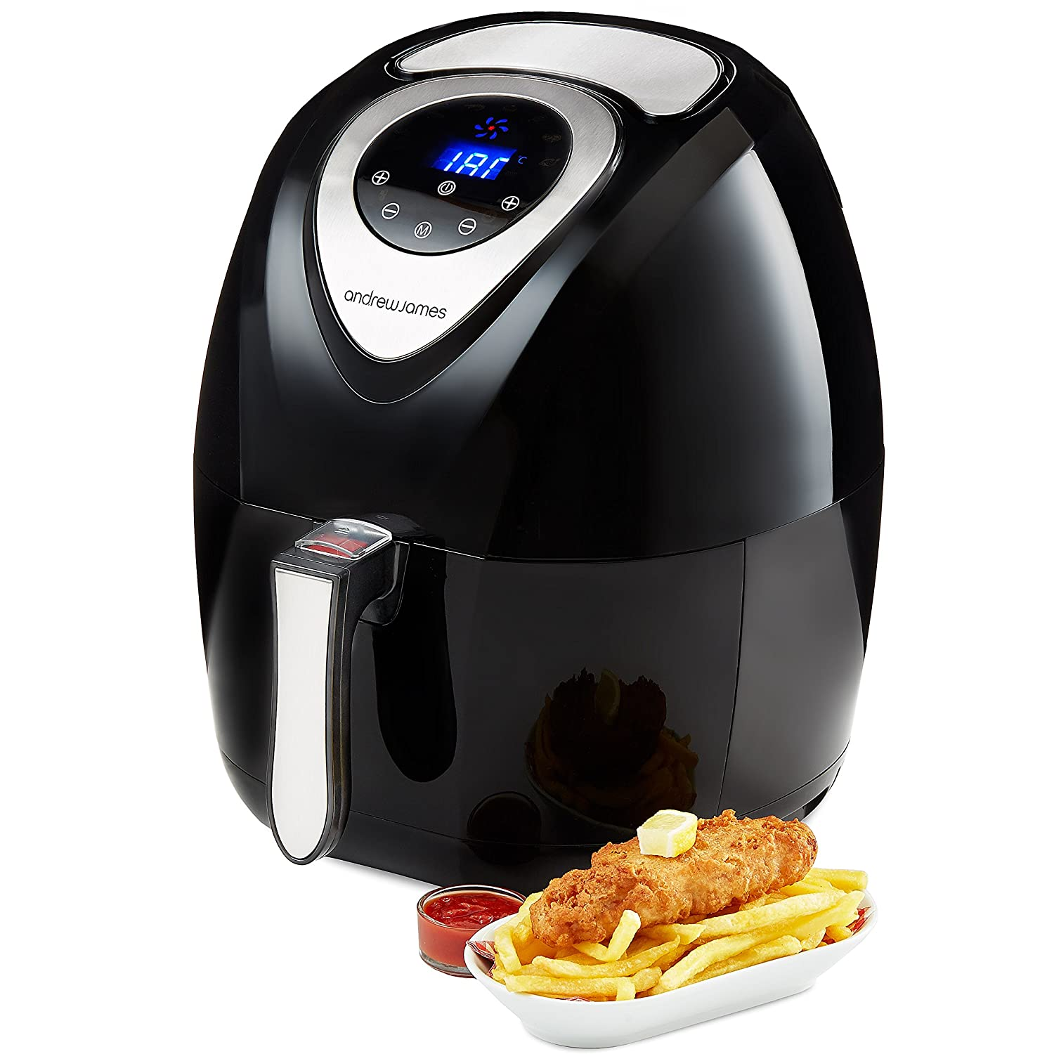 Uncategorized Andrew James Kitchen Appliances andrew james digital air fryer in black healthy oil free low fat cooking 3 2l amazon co uk kitchen home