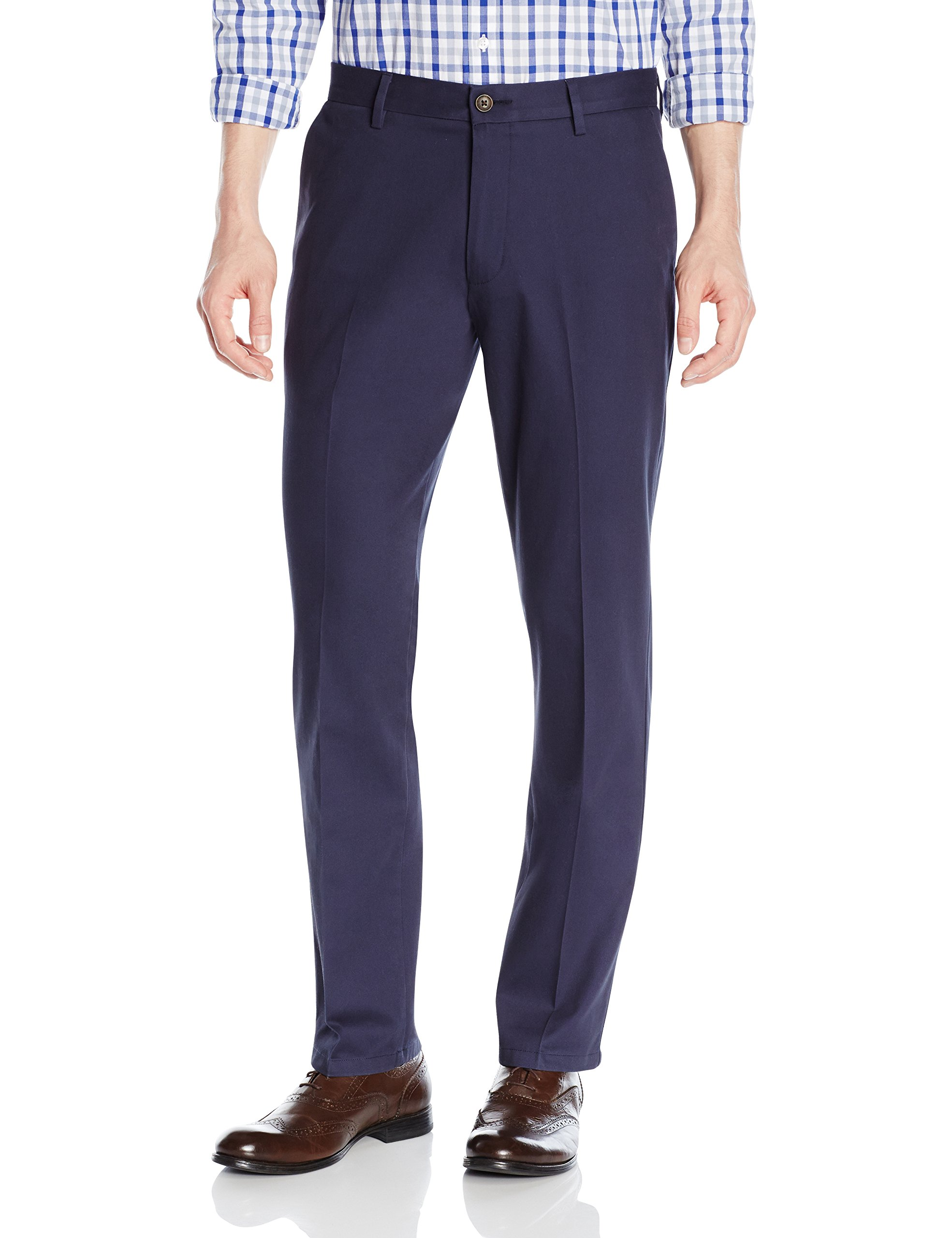 Goodthreads Men's Straight-Fit Wrinkle-Free Dress Chino Pant, Navy, 32W x 34L