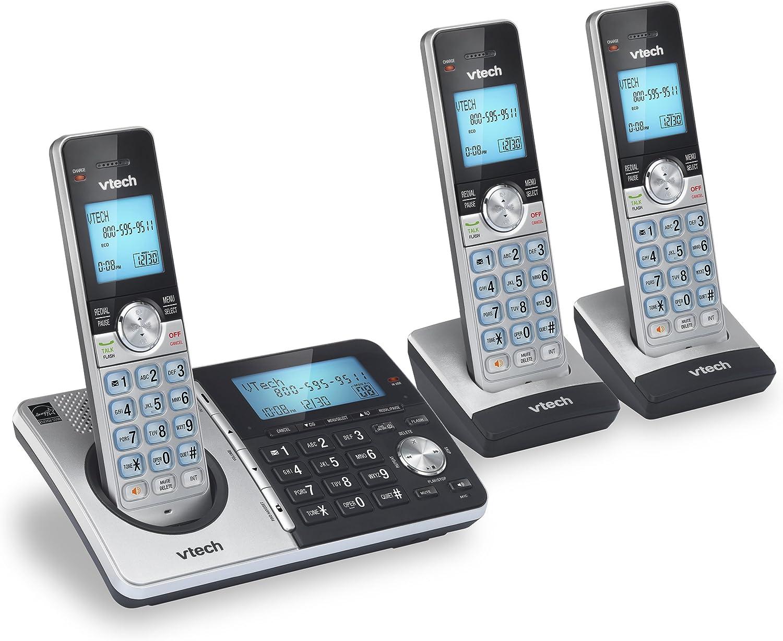 VTech CS5159-3 - Teléfono inalámbrico DECT 6.0 con Sistema de contestar y identificador de Llamadas, Color Plateado y Negro: Amazon.es: Electrónica