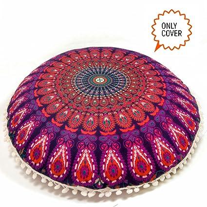 Amazon.com: Mandala Life ART Bohemian Yoga Decor Floor Cushion Cover ...