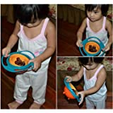 Evana Creative Baby Feeding Bowl Toy Non Spill Universal Gyro Bowl Dish 360 Rotate Funny Gift