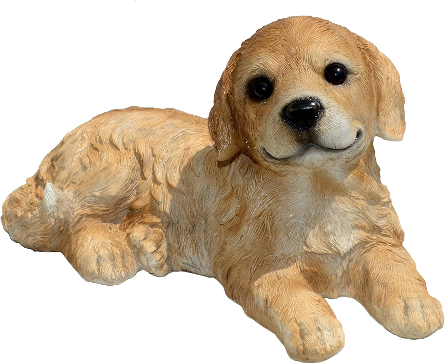 Michael Carr Designs Goldie Retriever Puppy L Outdoor Puppy Dog Figurine for Gardens, patios and lawns (80105)