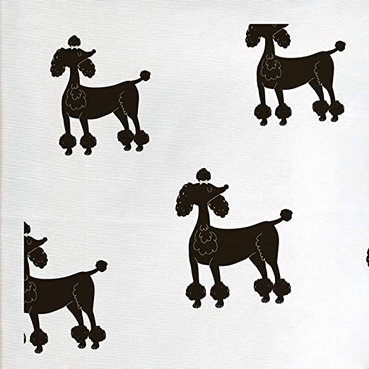 Poodles Mother and Daughter Puppy Dog Metal Craft Sewing Buttons Set of 4