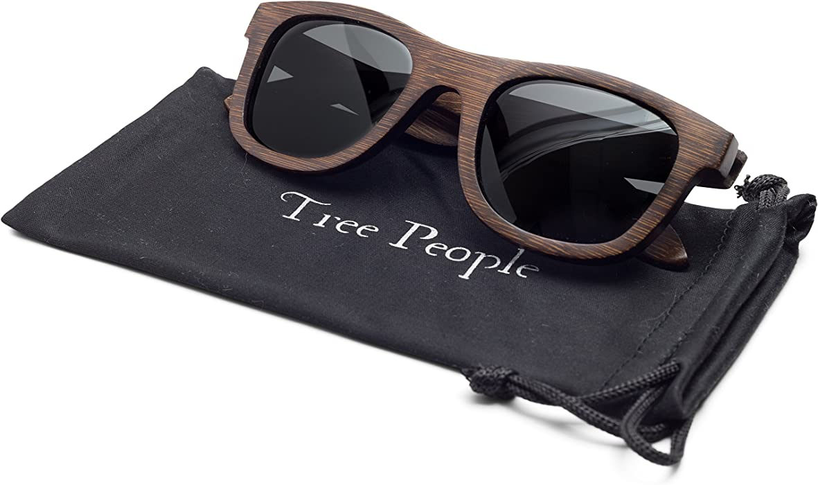 e3f1dc8265bfa Wood Sunglasses for Men and Women - Polarized Bamboo Wayfarer with Wooden  Case