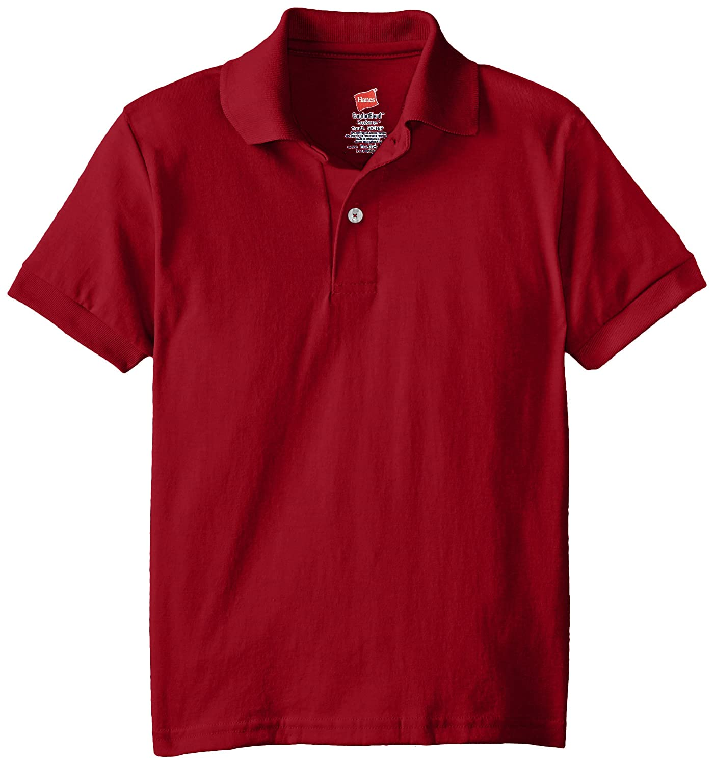 Hanes Big Boys Short Sleeve Eco Smart Jersey Polo Hanes Boys 8-20 O054Y